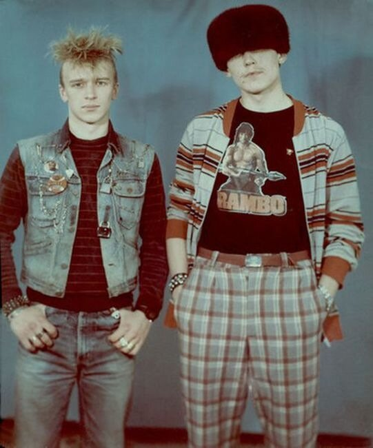 «Панк и «любер» в фотоателье», 1988, автор неизвестен