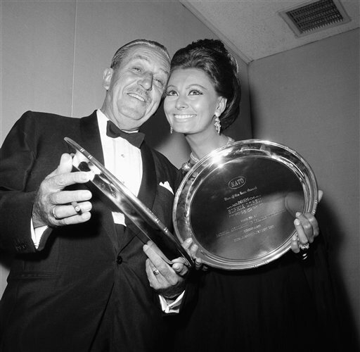 Walt Disney and Sophia Loren - 1966