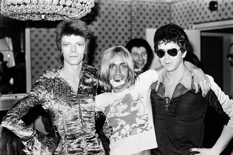 David Bowie, Iggy Pop and Lou Reed, 1972