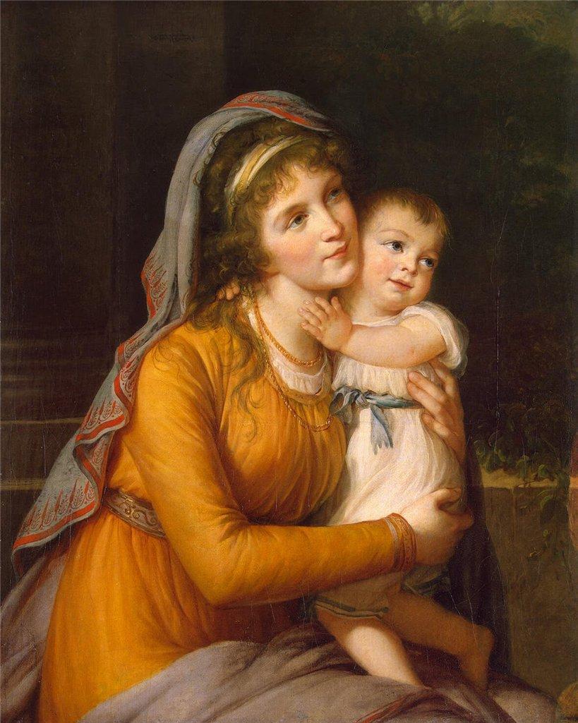 Портрет графини Анны Сергеевны Строгановой с сыном, Эрмитаж