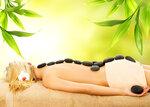 Massage with volcanic hot stones