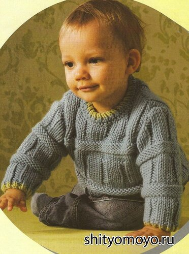 Детский пуловер, связанный