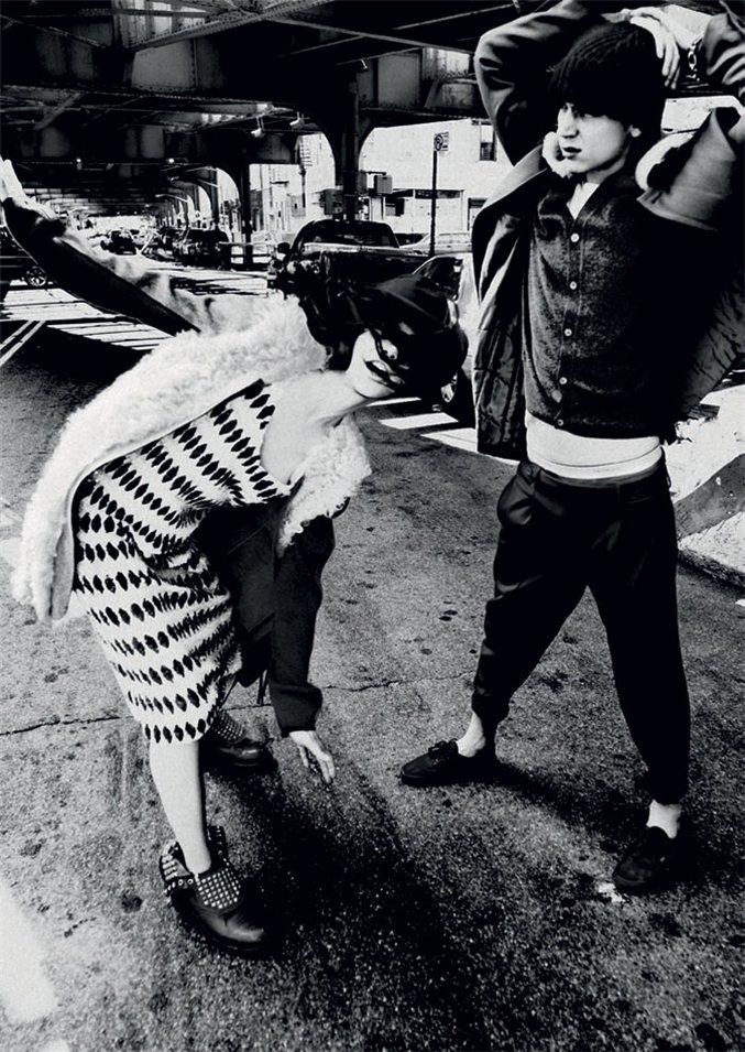 Tati Cotliar and Yuri Pleskun by Jason Kibbler / Тати Котляр и Юрий Плескун в журнале Twin Magazine