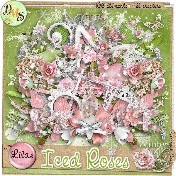 Скрап-набор Iced roses