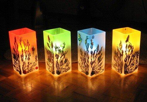 Декоративный светильник своими руками