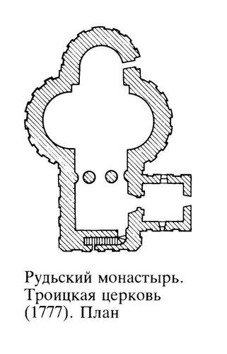 Монастырь Рудь - Троицкая ц-вь (1777).jpg