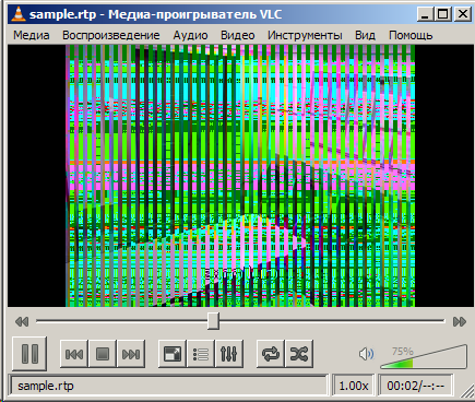 color bars on vlc>1 0 5 rtsp from Panasonic BL-C101 - The