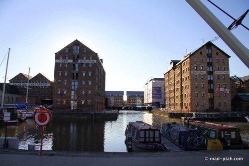 глостер, англия, портовые склады
