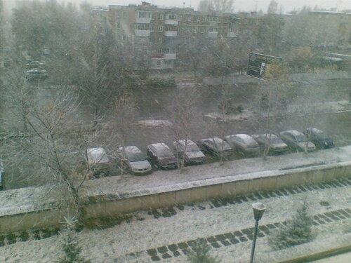 Город Златоуст. Первый снег
