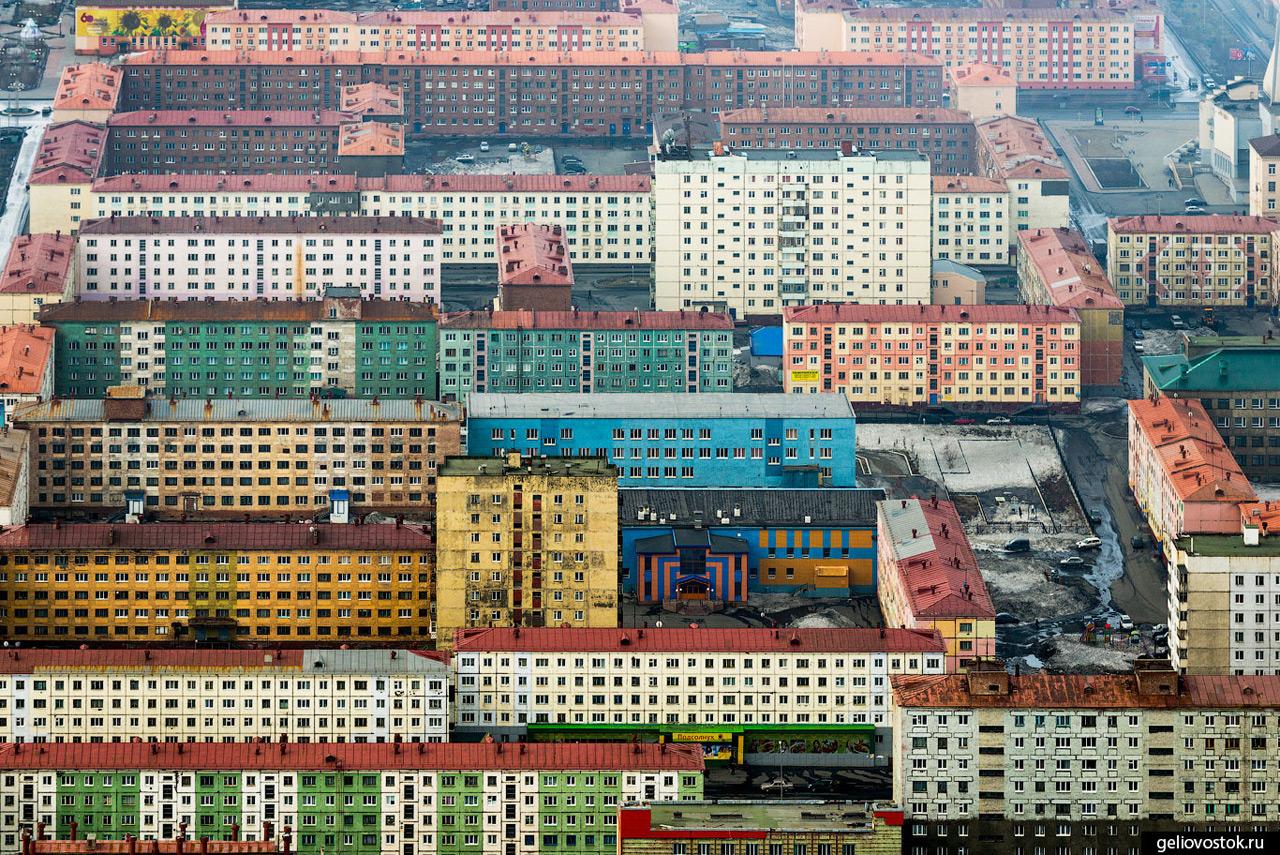 11 Северная Корея? Неправильно! На фотографии — город Норильск! Крупнейший промышленный центр России
