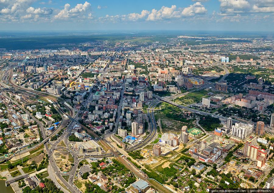 Новосибирск с высоты лето 2011
