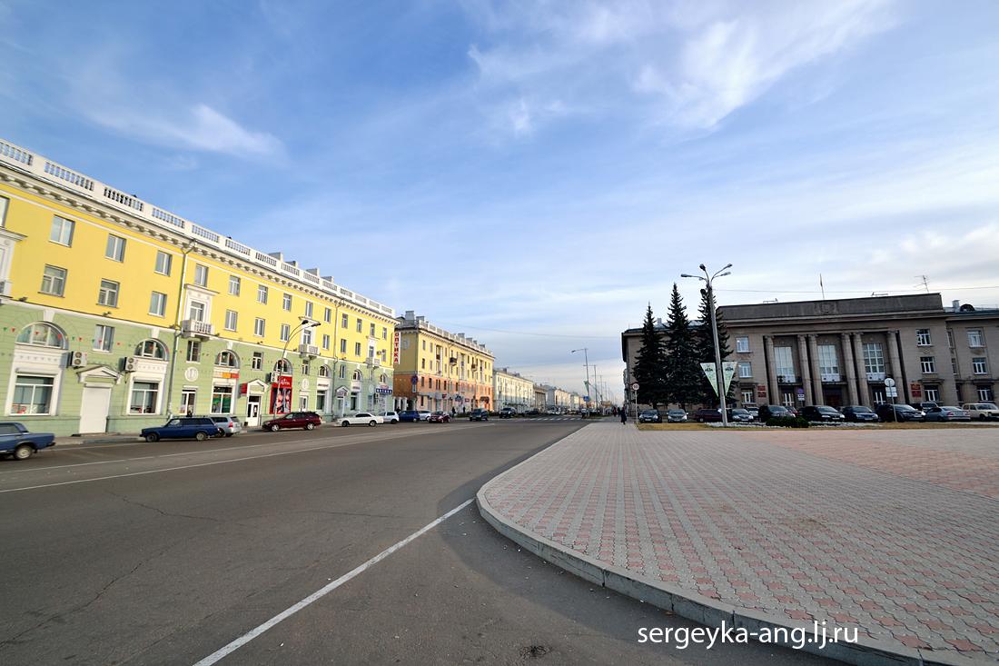 в сторону улицы Чайковского