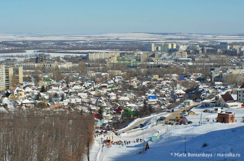 Пейзажи Вишнёвой горы, Саратов, 17 февраля 2015 года
