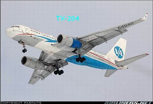 Фото самолета Ту-204 компании Владивосток-Авиа.