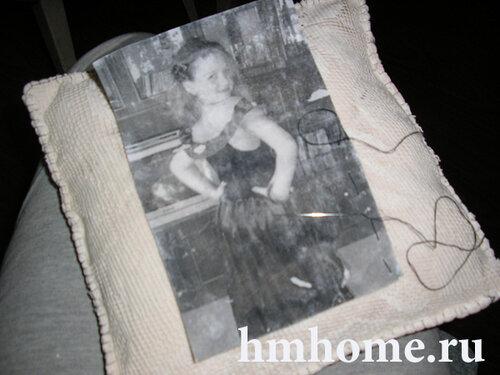 Винтажная подушка с фото