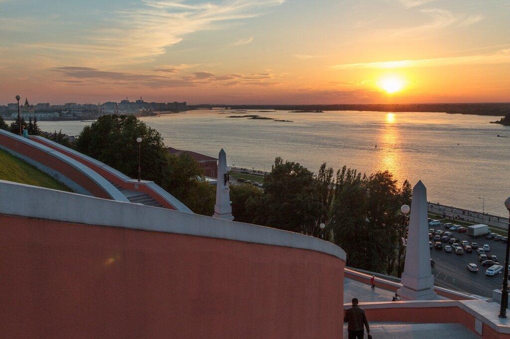 Чкаловская лестница, Нижний Новгород, Волга
