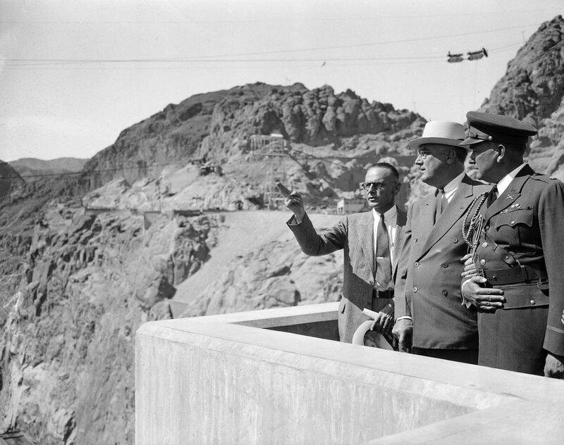 FDR Visits Boulder Dam 1935