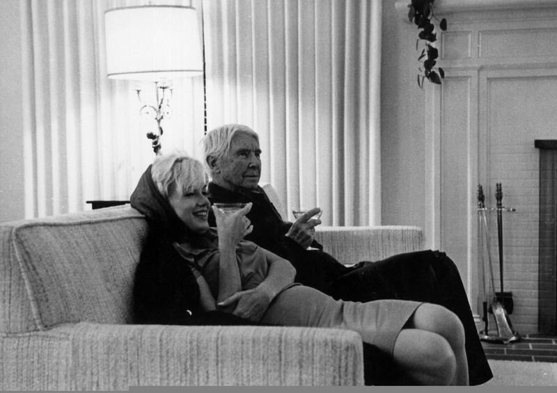 Marilyn Monroe and Carl Sandburg