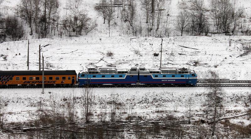 ЧС7-043 с поездом Рига-Москва