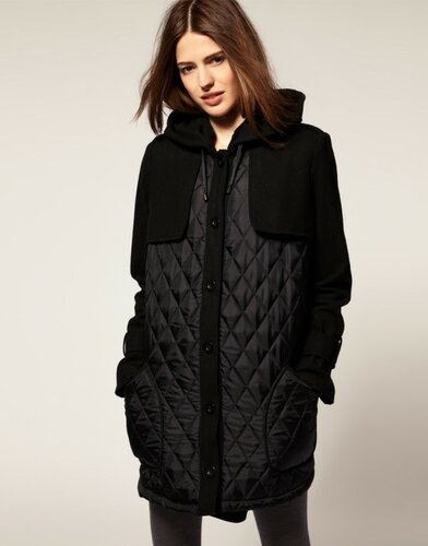 Asos Quilted Coat $122