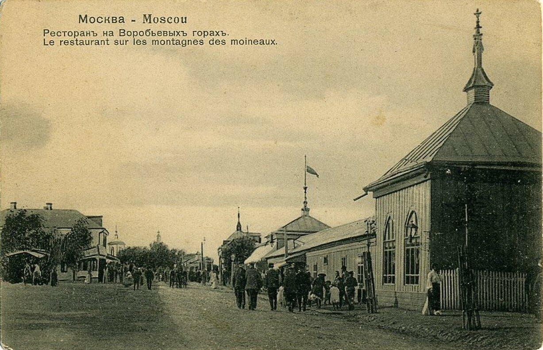 Окрестности Москвы. Воробьевы горы. Ресторан