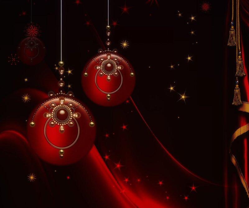 рождественские фоны и орнамент (1)