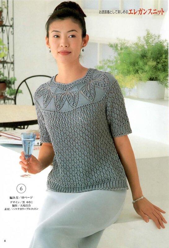 Вязанье женских свитеров спицами 255