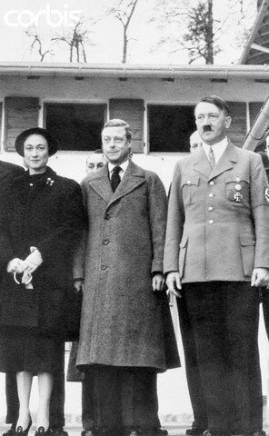 Adolf Hitler with Duke and Duchess of Windsor