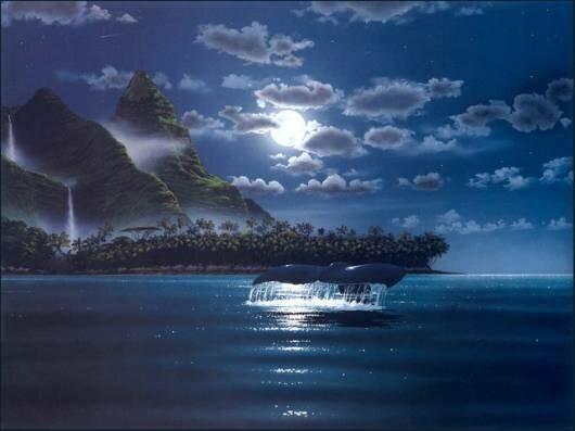 """Автор схемы  """"Ночь на море """". схема. malkinaiv.  Размеры: 190 x 143 крестов.  0. оригинал."""