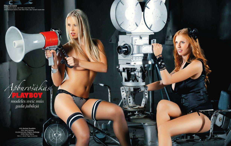 1-я годовщина журнала Playboy Латвия, октябрь 2011 - Элина и Зане
