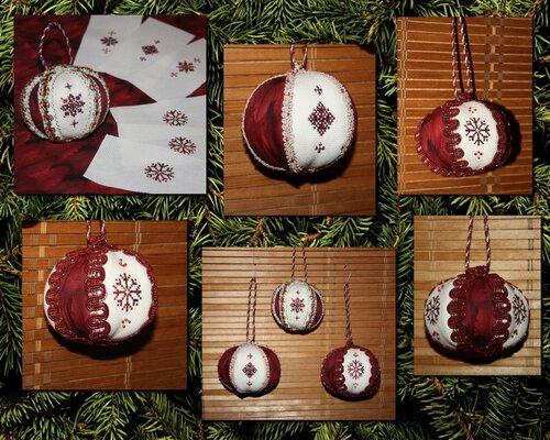 Вышивка для елочных шаров 476