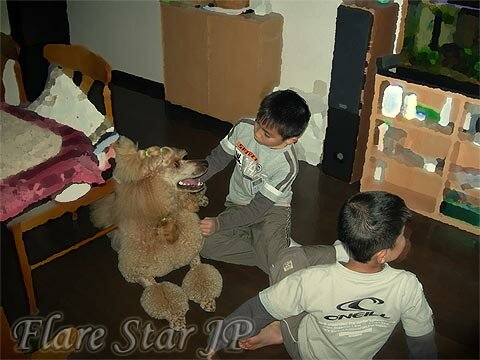 Playing with children