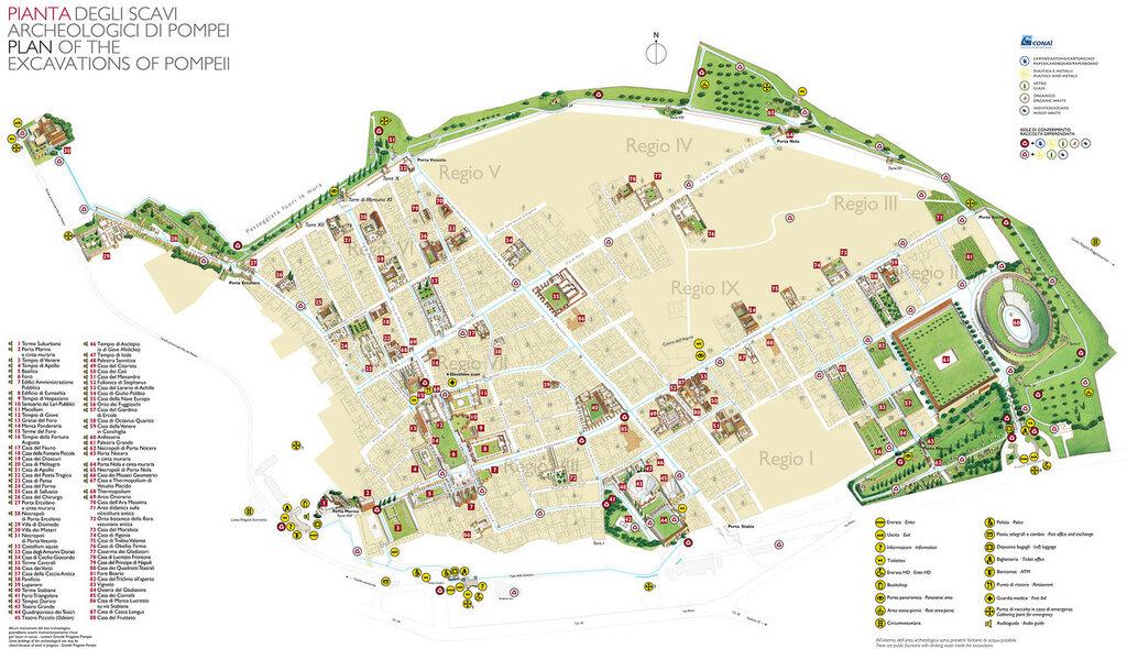 Карта Помпеи