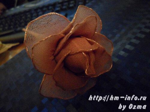 Мастеркласс как сделать розу из кожи.