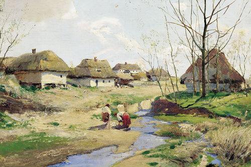 Художник Васильковский Весенний день на Украине