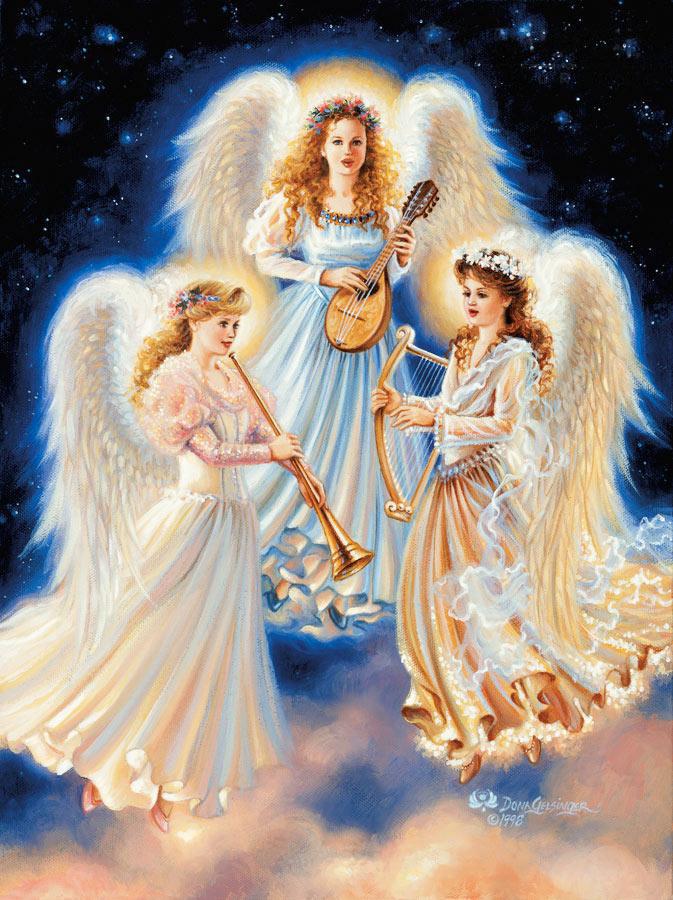 Там ангелы поют, купаясь в облаках.  И, сказочный уют - загадочная небыль - Находят отражение в мечтах!