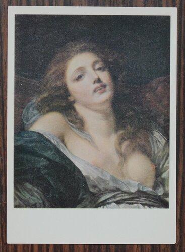 """Голова молодой женщины.Этюд к картине """"Горячо любимая мать"""". 1769 г."""