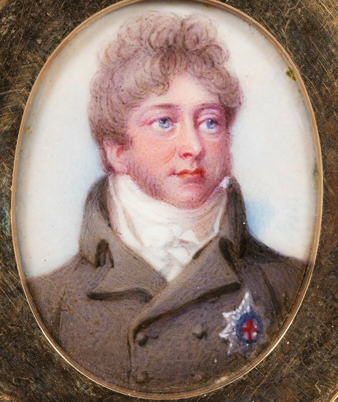 Locket set with miniature of George IV (1762-1830), when Prince of Wales  1806
