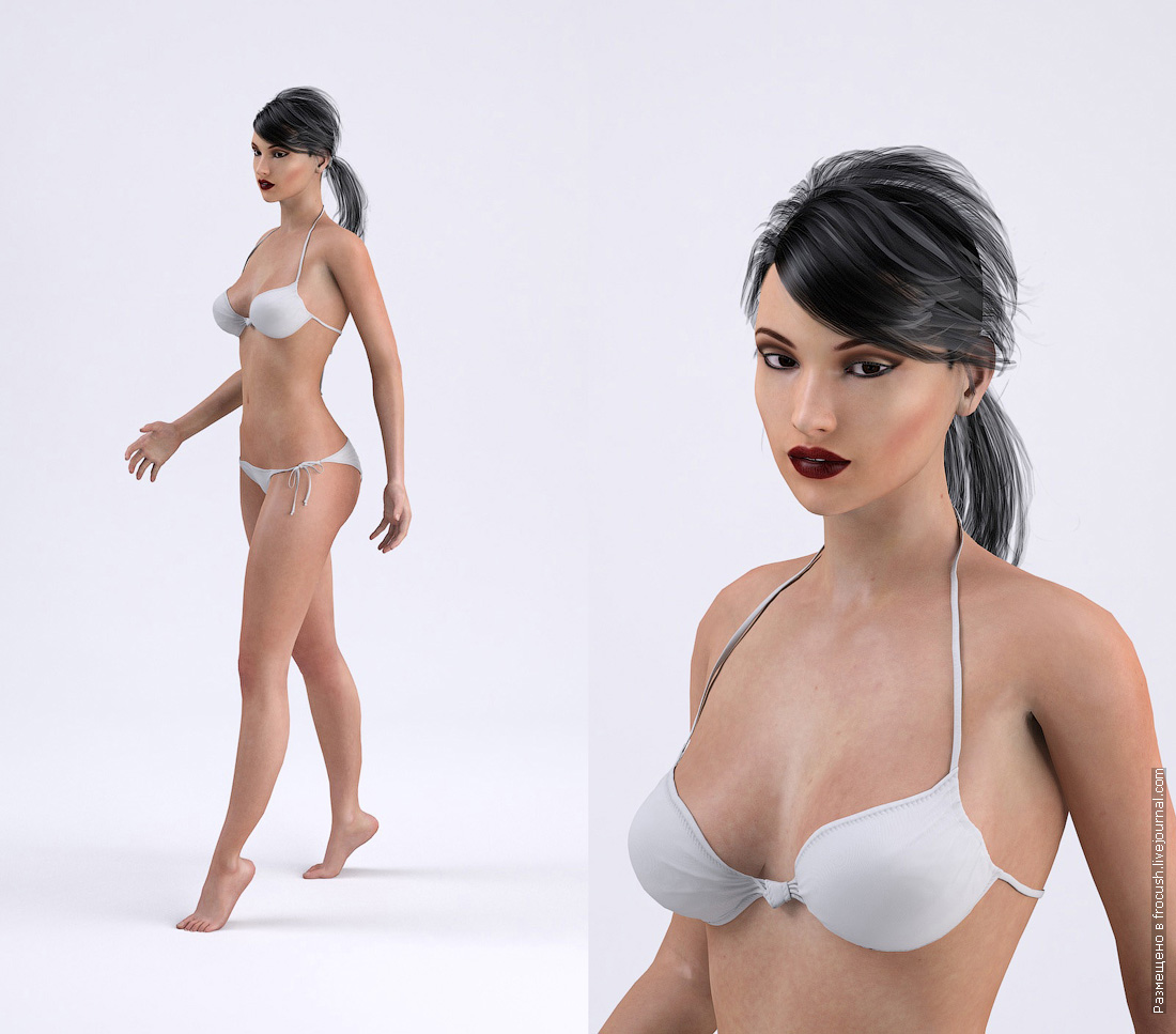 девушка в бикини 3D модель