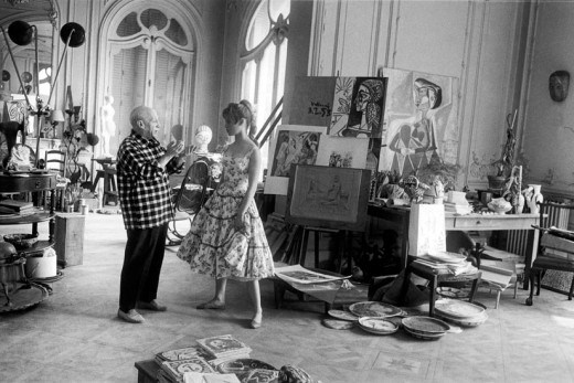 BARDOT AND PICASSO, 1955, CANNES