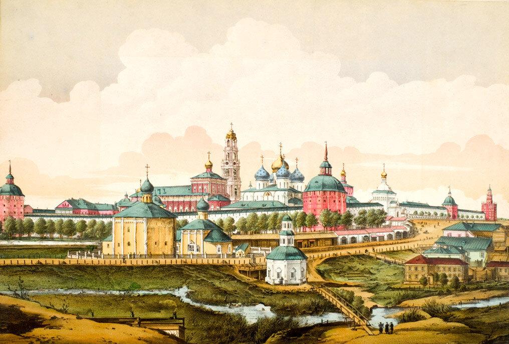 17. Окрестности Москвы. Панорама Троице-Сергиева монастыря