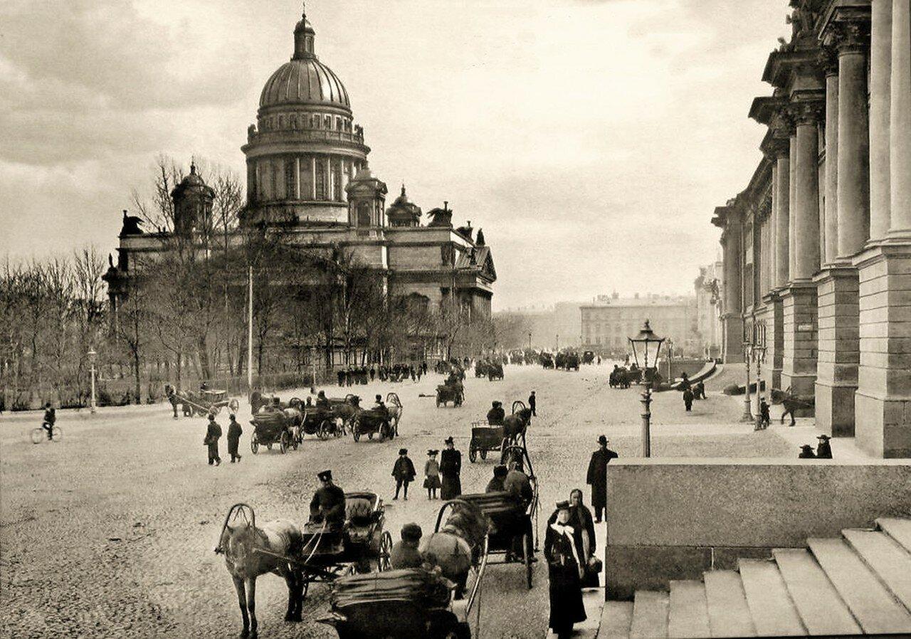 1900-е. Вид на Исаакиевский собор со стороны Сената и Синода
