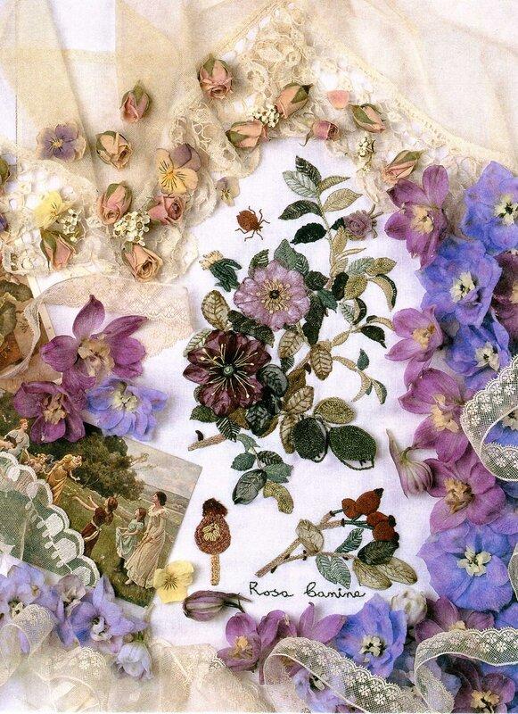 Картинки из ленточек цветы 5
