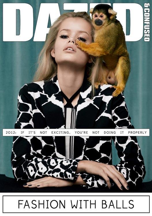 модель Frida Aasen на обложке журнала Dazed Confused, март 2012