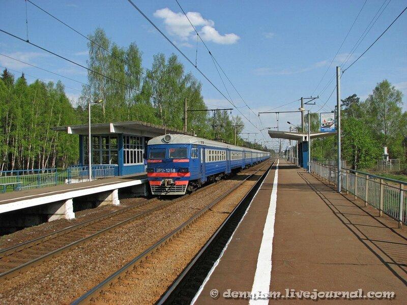 Электропоезд ЭР2-1258, о.п. Осеевская, перегон Монино - Чкаловская