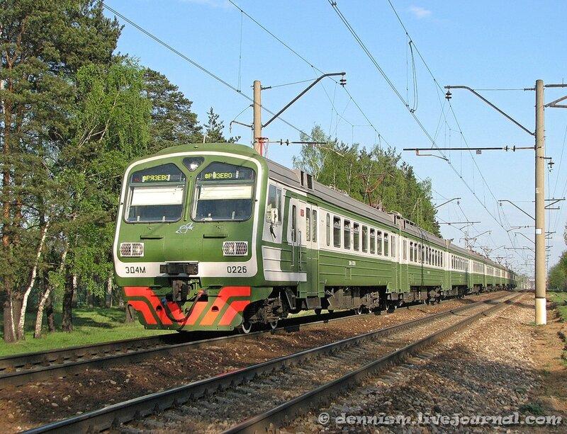 Электропоезд ЭД4М-0226, перегон Монино - Чкаловская