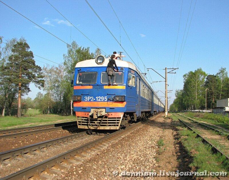 Электропоезд ЭР2-1295, перегон Чкаловская - Монино