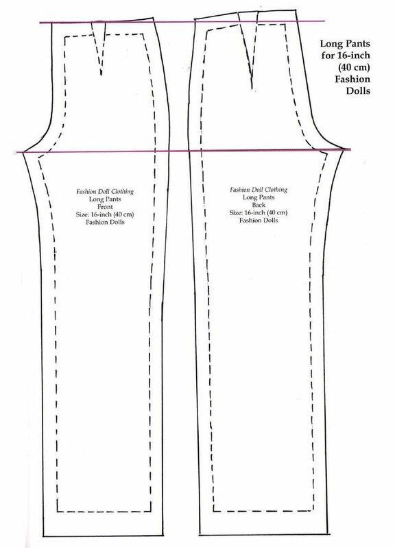 Выкройка брюк для барби распечатать