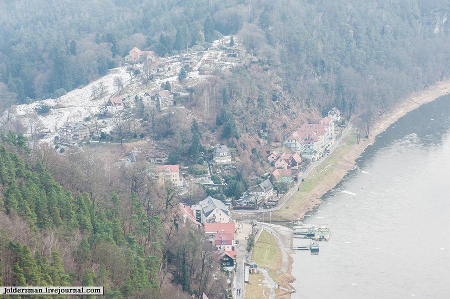 вид на немецкий курорт с высоты птичьего полета
