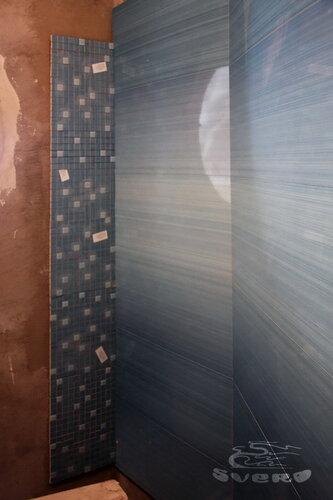 облицовка бесшовной плиткой и мозаикой